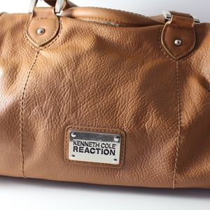 Kenneth Cole Reaction Tan Faux Leather Purse